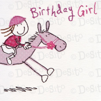 SC02 birthday girl horse
