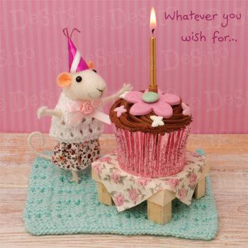 W40 birthday cupcake